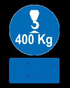 حداکثر وزن مجاز برای بالابر 400 کیلوگرم