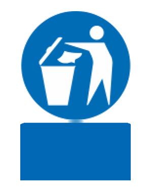 زباله ها را در سطل مناسب درب دار بریزید