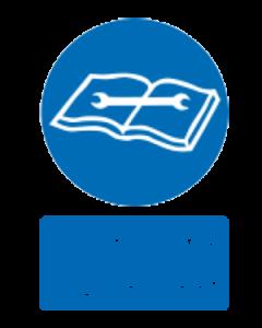 مطالعه دستور العمل قبل از تعمیر و نگهداری الزامی است