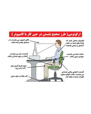 ارگونومی (طرز صحیح نشستن در حینکار با کامپیوتر